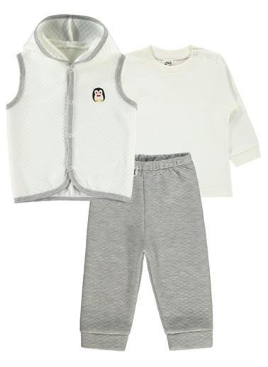 Civil Baby Civil Baby Erkek Bebek Yelekli Takim 6-18 Ay Gri Civil Baby Erkek Bebek Yelekli Takim 6-18 Ay Gri Gri